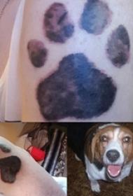 狗爪纹身 女生手臂上狗爪纹身可爱图案
