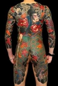 多款線條素描創意經典大面積日本傳統圖騰紋身圖案