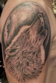 狼头纹身图片 男生手臂上狼头纹身图片