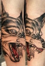 狼头纹身图片 男生手臂上狼头纹身霸气图片
