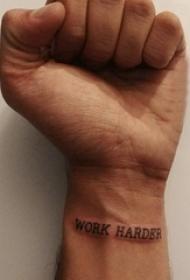 纹身的英文单词 男生手腕上黑色的英文单词纹身图片