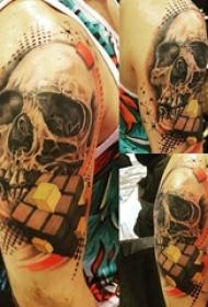 骷髅纹身 男生手臂上骷髅纹身霸气图案