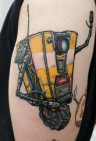 机器人纹身 男生大臂上彩色的机器人纹身图片