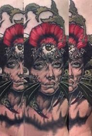 人物纹身图片 男生手臂上人物肖像纹身图片