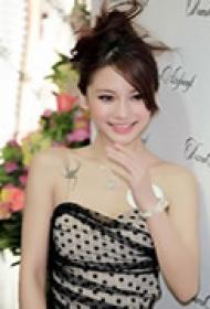 明星杨颖胸部性感纹身