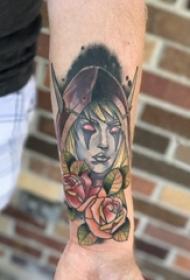 女生人物纹身图案 女生手臂上人物纹身图片