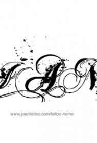 花体英文纹身 简单线条纹身花体英