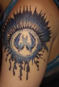 印第安风格纹身 男生手臂上印第安风格纹身图片