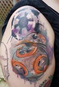 小宇宙纹身 男内行臂小宇宙纹身图片