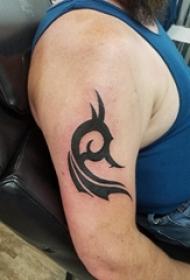 手部图腾纹身 男生手部图腾纹身图案