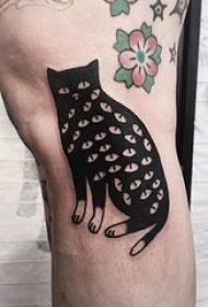人物肖像纹身 多款简单线条纹身素描女生人物纹身图案