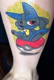 纹身卡通 男生小腿上卡通纹身图片