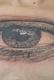 眼睛纹身 男生锁骨下眼睛纹身图片