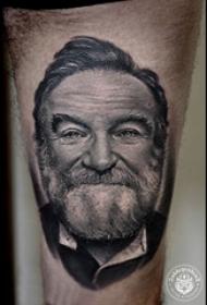 人物肖像纹身 多款人物肖像纹身黑灰写实纹身图案