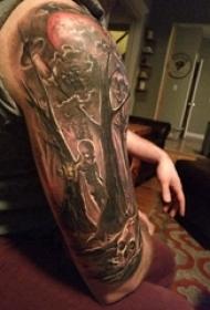树纹身 男生手臂上树图腾纹身图片