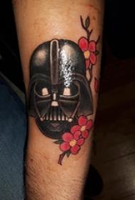 日本武士盔甲纹身 男生手臂上盔甲纹身图案