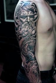 3d写实纹身 多款简单线条纹身素描3d写实纹身图案