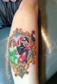 小丑紋身 男生小腿上小丑紋身圖片