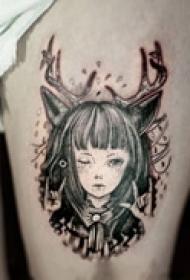 气质可爱少女纹身