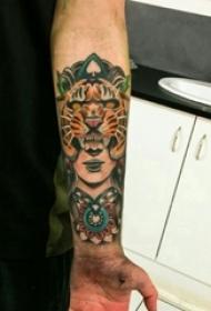 老虎图腾纹身 男生手臂上老虎图腾纹身人物肖像纹身图片