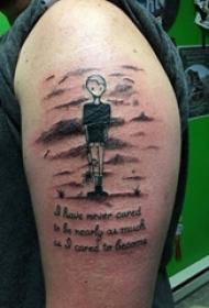 漫画纹身 男生手臂上漫画纹身图片