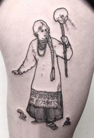 简单线条纹身 多款简单线条纹身黑色经典纹身图案