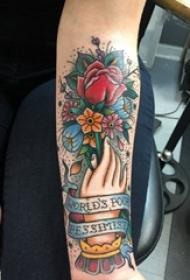 文艺花朵纹身 女生小臂纹身文艺花朵纹身图片