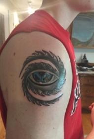 眼睛纹身 男生手臂上眼睛纹身图案