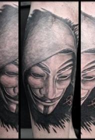 黑灰纹身 多款黑灰纹身素描经典纹身图案