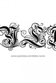 花体英文纹身手稿 黑色纹身花体英文纹身手稿