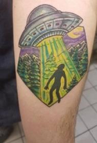 纹身星球 男生手臂上星球纹身图案