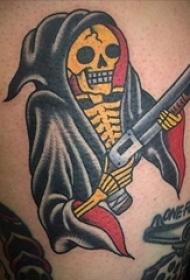 骷髅纹身 多款骷髅纹身彩色恐怖纹身图案