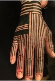 简单线条纹身 多款简单线条纹身几何经典纹身图案