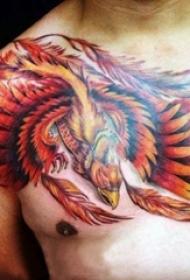 纹身凤凰 多款彩绘纹身凤凰图腾纹身图案