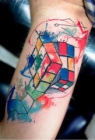 彩色泼墨纹身 多款小清新文艺纹身素描彩色泼墨纹身图案