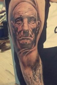 人物纹身图片 男生手臂上人物纹身图案