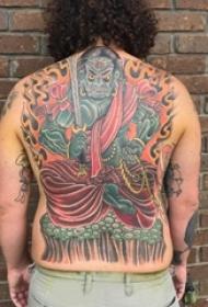 般若满背纹身 男生背部般若满背纹