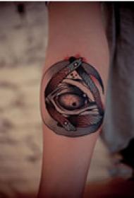 恐怖抽象手臂纹身