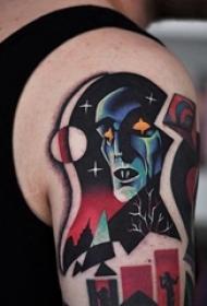 疯狂迷幻流行文化纹身图案