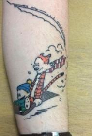 纹身卡通 男生手臂上彩色纹身卡通可爱纹身图案