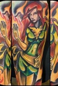 纹身动漫人物 男生手臂上动漫人物纹身图片
