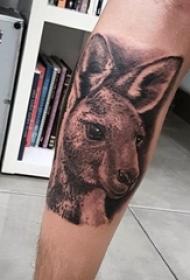 百乐动物纹身 多款简单线条纹身黑色百乐动物纹身图案