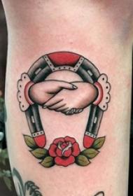 简单线条纹身 多款简单线条纹身素描马蹄形纹身图案