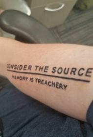 英文短句纹身 男生手臂上英文短句纹身图片