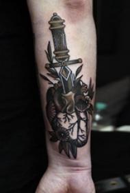 素描纹身 多款简单线条纹身素描传统纹身图案