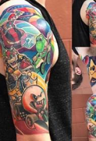 纹身卡通 男生手臂上彩绘纹身卡通纹身图片