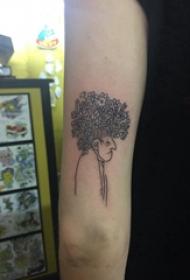 人物肖像纹身 女生手臂上人物纹身图片