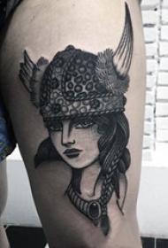女生人物纹身图案 多款素描纹身彩色人物纹身图案