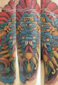 传统纹身图案 多款彩色纹身素描传统纹身图案