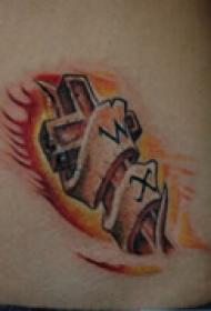 创意抽象腹部纹身
